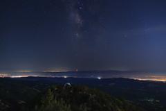 Lick Observatory at Night - 1 (fksr) Tags: lickobservatory mounthamilton santaclaracounty california night stars sky milkyway landscape southbay telescopedome citylights