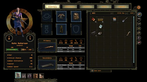 Wasteland 2: Directors Cut Character Window