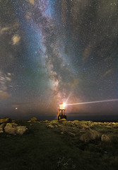 Milky way watches over lighthouse (kenthelleland) Tags: milkyway melkeveien galaxy milky way home stars nightshot nightimage star universe astronomy astrophoto astrophotography canon canon70d landscape lighthouse norway westernnorway sky clouds visitnorway kenthelleland nightsky