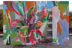 Untitled (SERGEY AKRAMOV) Tags: art artwork fineart sprayart streetart graffiti graffuturism postgraffiti fine wall canvas sergeyakramov сергейакрамов paint painting plant