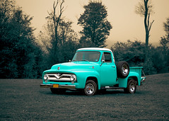 1955 Ford - Morning Fog (Chris Mahoney - AACStudio) Tags: 1955 2018 allegheny forest national pennsylvania trees vacation creative fog ford kinzua park pickup truck vintage