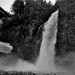 A Complete Setting to Franklin Falls (Black & White)