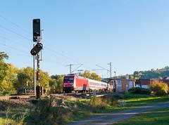 101 127 in Unterhaun (_VT2E_) Tags: db fernverkehr ic intercity unterhaun fobn posten bahnübergang bü