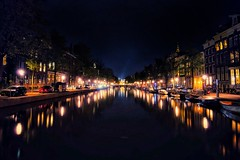Amsterdam (franlaserna) Tags: holland cityscape city lights reflection canal water nightphotography night amsterdam