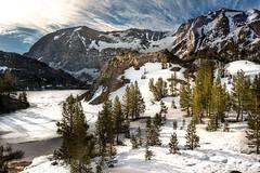 Sierra Morning (Infinite Monkey2011) Tags: easternsierra frozenlake ice mountainlakes snow twinlakes bridgeport twin lakes