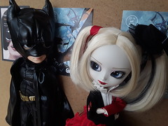 Batman and Harley - Girocomic 2018 (Lunalila1) Tags: dolls groove taeyang pullip dc comic batman harley quinn dress version domeki delico vincent