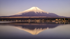 The reflection morning of Mt. Fuji // from Yamana lake (onion407) Tags: mountain landscape nature background sunset view hill sky beautiful outdoor travel environment light city cloud mountains beauty scene cold japan volcano lake water famous destination big high tourism strong holiday colorful attraction evening reflection morning color