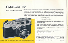 Undated Yashica Sales Brochure - Yashica/Nicca YF (www.yashicasailorboy.com) Tags: camera ad advertisement brochure catalog japan fairway rangefinder 35mm yashica nicca 1959