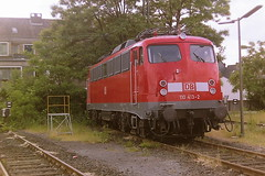 DB 110413-2 (bobbyblack51) Tags: db class 110 henschel kraussmaffei krupp aeg brown boveri siemens bobo electric locomotive 1104132 bw dusseldorf 2001