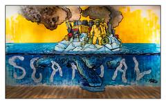 Scandal - Oeuvre de Bur sur le thème du réchauffement climatique (Laetitia.p_lyon) Tags: fujifilmxt2 exposition bur urbanart streetart arturbain lyon superposition sitio oneshot art artwork wallpainting