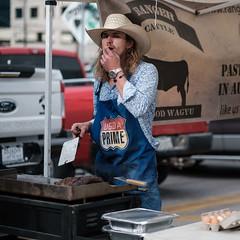 Taste Test (-Dons) Tags: austin austinfarmersmarket hat texas unitedstates usda usdaprime rangercattle farmersmarket downtown grill eggs cowboyhat watch meat taste
