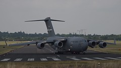 C-17A Globemaster (ShroudOfFrost) Tags: raf northolt plane takeoff london c17 usaf c17a globemaster united states air force travis afb amw mobility command reach