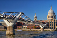 River view (another_scotsman) Tags: london city architecture cityscape millennium bridge st pauls cathedral