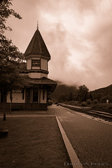 Crawford Depot (Dirtman's Images) Tags: notch crawfordstation cloudy rocky ef24105mmf4l crawfordknotch canon clouds zoom fog wilderness eos6dmarkii usa nature whitemountains ettr windy queenanne appalachiantrail depot station appalachian sepia scoutchuck presidentailrange dirtmansimages mountains water circularpolarizer scenic glacier newhampshire gorge nationalforest newengland lightroom railroad