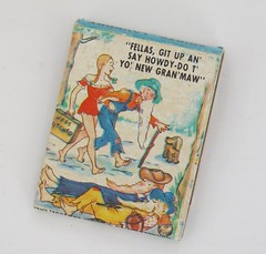 "Monarch Match Co. - San Jose, Calif. - Hillbilly Series - ""Jest Hitched"" (hmdavid) Tags: monarch match matchbook company sanjose california 1950s midcentury art illustration advertising matchcover hillbilly series"