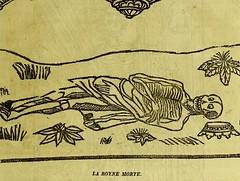 This image is taken from Page 45 of La grande danse macabre des hommes et des femmes : précédée du dict des trois mors et dfs [!] trois vifz, du Débat du corps et de l'ame, et de La complaincte de l'ame damp (Medical Heritage Library, Inc.) Tags: dance death wellcomelibrary ukmhl medicalheritagelibrary europeanlibraries date1862 idb24877402
