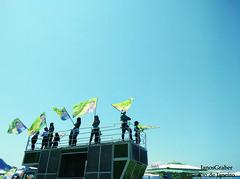 Campanha (Janos Graber) Tags: bandeiras política garotas caminhão céu copacabana riodejaneiro