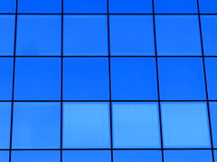 squares and windows (vertblu) Tags: facade glassfacade crystalfacade squares squared windows windowpane lines horizontals verticals linien blue shadesofblue graphical graphic geometric geometrical geometry architecture abstractarchitecture vertblu building officebuilding offices reflectedskies minimal minimalism minimalismus monochrome