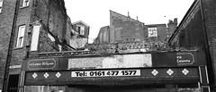 27a Demolished building, Stockport (I ♥ Minox) Tags: film 2018 olympusom2n om2n om2 olympusom2 olympus om2582 tmax tmax400 kodaktmax400 stockport denisthorpe