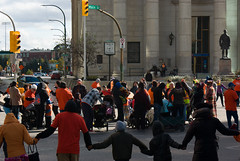 Portage & Main Round Dance 2018-09-30 — 8 (WPG Happening!) Tags: round dance rounddance portage main portageandmain portagemain pm 2018 residential school schools memorial ceremony residentialschools residentialschool canadianindianresidentialschools canadianindianresidentialschool indianresidentialschools indianresidentialschool indian indigenous native canadian nativecanadian american nativeamerican anishinaabe anicinabe people person group circle demonstration memorail commemoration protest winnipeg manitoba canada street road avenue st ave intersection traditional corner buildings building city exchange theexchange district exchangedistrict cityofwinnipeg orange shirt day shirts orangeshirtday