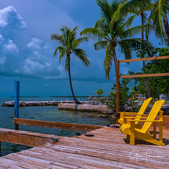 View For Two (Thüncher Photography) Tags: fujifilm fuji gfx50s gf3264mmf4rlmwr mediumformat scenic landscape waterscape nature outdoors sky clouds tropical island palmtrees dock pier islamorada floridakeys florida southflorida lajollaresort
