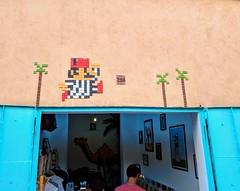 Invader Street Art (jmaxtours) Tags: invader tileart streetart marrakesh medina marrakeshmedina morocco marrakeshmorocco spaceinvader tiles tilework mosaic mario fez fezhat