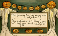 On Halloween Be Wary and Look About (Alan Mays) Tags: ephemera postcards greetingcards greetings cards paper printed halloween holidays october31 jackolanterns pumpkins orange goblins gobbleuns ghosts jameswhitcombriley poets poems poetry rhymes illustrations borders signs green gold yellow 1911 1910s antique old vintage typefaces type typography fonts hbg griggs hbgriggs artists illustrators postcardartists artistsigned lr postcardpublishers serie2231 series2231 postcardseries