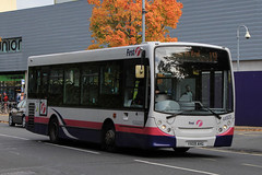 YX09 AHG, Cambridge Road, Portsmouth, October 27th 2016 (Southsea_Matt) Tags: yx09ahg 44920 route19 cambridgeroad portsmouth hampshire firsthampshire alexanderdennis adl e200 enviro200 canon 80d sigma 1850mm october 2016 autumn bus omnibus vehicle publictransport passengertravel