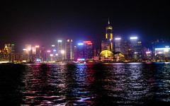 Hong Kong Skyline at Night (` Toshio ') Tags: toshio hongkong kowloon victoriaharbour victoriaharbor harbor reflections city cityscape lights asia asian china fujixt2 xt2
