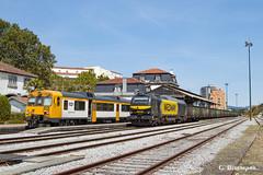 Valença (ɢ. ʙᴇʀᴇɴɢᴜᴇʀ [ ō-]) Tags: valença fortaleza portugal tui 335 335035 sara euro4000 e5035 stadler 592 cp estación railway railroad ffcc 592119 diesel