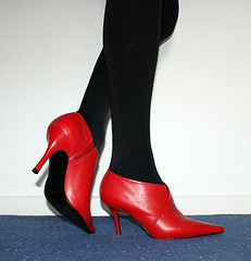 Red shoes (colleen_ni00) Tags: crossdresser tranny transvestite cd red tights shiny heels stilettos sexy