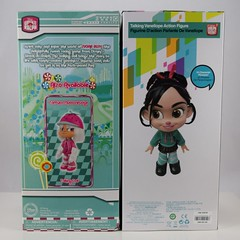 2012 vs 2018 Vanellope Talking Doll - Disney Store Purchases - Boxed - Rear View (drj1828) Tags: wreckitralph2 ralphbreakstheinternet 2018 merchandise disneystore purchase productinformation vanellopevonschweetz talking doll actionfigure 2012 comparison