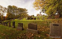 Sainte Jeanne de Chantal (/ shadows and light) Tags: saintejeannedechantal îleperrot quebec autumn cemeteries cemetery graveyard churches tombstones faith fall graves hereafter religion