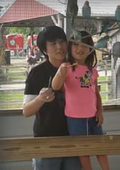 20181007-171440_Messenger (hyprsleepy) Tags: asian girl mom daughter birds farm parakeet feeding smiling smile
