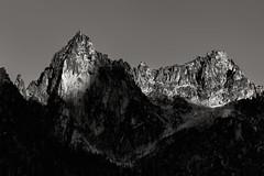 Dragontail Peak Alpenglow (leogogo1023) Tags: alpenglow sunset peak blackwhite