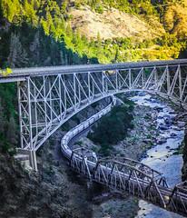 Pulga bridges (champbass2) Tags: train featherrivercanyon freighttrain featherriver bridges pulga oroville hwy70 transit mountains river scenichighways california usa