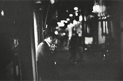 """""""smoking man"""" (jaxting) Tags: jaxting 東京 tokyo bw smoking people street candid trix alacarte leicamp noctilux leica"""