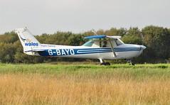 G-BAYO (goweravig) Tags: gbayo cessna 150 visiting aircraft swansea wales uk swanseaairport