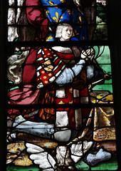 1522 - 'Louis de Roncherolles (+1538) & Françoise d'Halluin (van Halewijn) (+ca. 1522-23), 'Vitrail de Roncherolles'' (Engrand Le Prince), Cathédrale Saint-Pierre, Beauvais, dép. Oise, France (roelipilami (Roel Renmans)) Tags: 1522 de roncherolles louis 1538 francoise dhalluin halewijn van 1523 halluin vitrail glasinloodraam glasmalerei stained glass fenster window raam venster engrand leprince le prince cathédrale kathedraal cathedral beauvais oise france french picardie picardy northern vitral armor armour armure harnas rüstung armadura renaissance surcoat surcotte wapenrok wappenrock waffenrock tabard king roi donors donateurs opdrachtgevers francois francis assisi christ crucifixion hubert christophe jesus cross christopher saint calvaire calvary gauntlets lion crest heraldry
