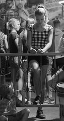 Street (gerhardschorsch) Tags: sony zeiss za ilce7r a7r available availablelight girl beauty beautifulgirl beautiful street streetshot 55mm fe55mm fe55mmf18za f18 festbrennweite vollformat shorts hotpants hot junggirl monochrom schwarzweis teengirl ilcea7r pferdeschwanz ponytail