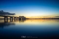 Kincardine Bridge - 28 Oct 2018 - 106 (ibriphotos) Tags: kincardine kincardinebridge goldenhour sunset river longexposure water ndfilter riverforth ndgrad nd512 reflection blue bluehour evening sky sunsets