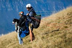 Sky Dog (Cornelli2010) Tags: canonef70200mm14l canoneos5dmarkiii animal candid dog fun gardasee hund italien italy lagodigarda montebaldo paraglider paragliding people