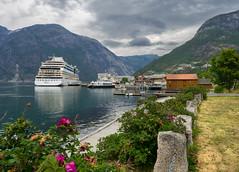 Eidfjord (Dan Österberg) Tags: eidfjord norway norge hardanger hardangerfjord fjord fjords tourism village ville town cruise cruiseship mountains water clouds