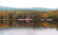 Lake at Cacapon State Park, WV (die Augen) Tags: canon ls2 cacapon lake reflection fall cloudy