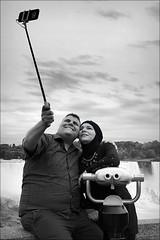 fall for you (bostankorkulugu) Tags: niagarafalls americanfalls bridalveilfalls ontario canada usa newyork couple muslim selfie waterfall