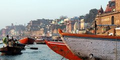 another varanasi panorama (kexi) Tags: varanasi benares india asia river ganga ganges water boats people panorama morning canon february 2017 view ghats instantfave hccity