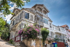 White House (`ARroWCoLT) Tags: begonvil ahşapev köşk whitehouse streetphotography streetcorner perspective perspektif oldhouses stonehouses windows pencere clouds cloud bulut istanbul heybeliada princeislands turkey türkiye window building sign trees woodenhouse kepenk road canon1855stm architecture tree bougainvillea