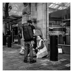 FILM - Outside the station (fishyfish_arcade) Tags: 6x6 analogphotography bw blackwhite blackandwhite filmphotography filmisnotdead istillshootfilm messikonta52416 monochrome shanghaigp100 zeissikonta analogcamera film folder mediumformat mono streetphotography