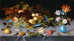 Still Life with Flowers and Bugs, variant (sjrankin) Tags: 24september2018 edited art painting rijksmuseum library museum fineart ska2152 stilllife flowers insects bugs balthasarvanderast 1620