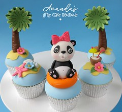 Panda Holiday Cupcakes (The Clever Little Cupcake Company) Tags: celebration novelty